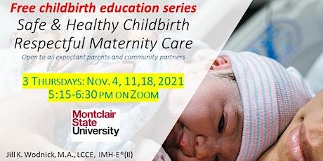 Free online Prenatal Childbirth Education 3 week November series tickets