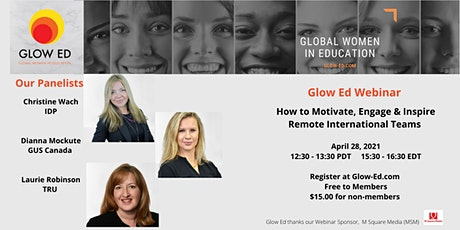 How to Motivate, Engage and Inspire Remote International Teams tickets