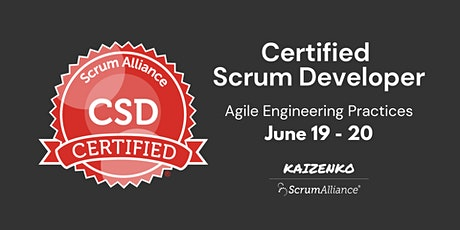 Online Certified Scrum Developer(CSD) - Agile Engineering Practices tickets