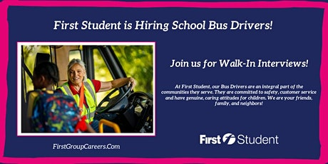 Join First Student Crest Hill for Walk-In Interviews! tickets
