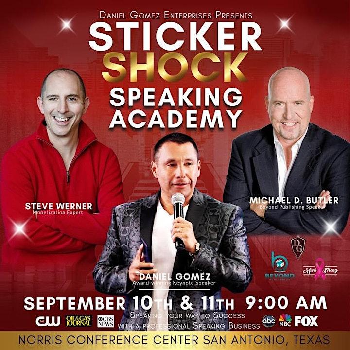 STICKER SHOCK SPEAKING ACADEMY - SPEAK YOUR WAY TO SUCCESS image