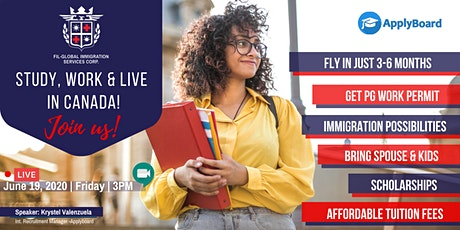 ❗FREE WEBINAR: Study, Work & Live in Canada! tickets