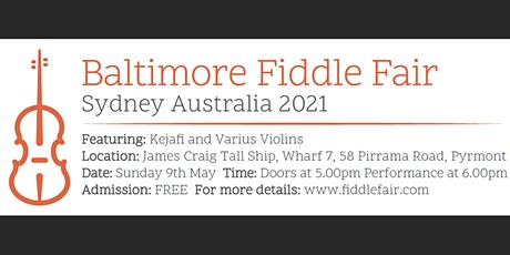 Baltimore Fiddle Fair Sydney 9 May 2021 *FREE ADMISSION* tickets