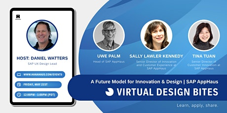Design Bites | A Future Model for Innovation & Design - SAP AppHaus tickets