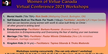 Women of Virtue Annual Conference Workshop Registration tickets