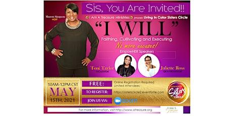 """LIVING IN COLOR"" Sisters Circle  Saturday Zoom Virtual Gathering billets"