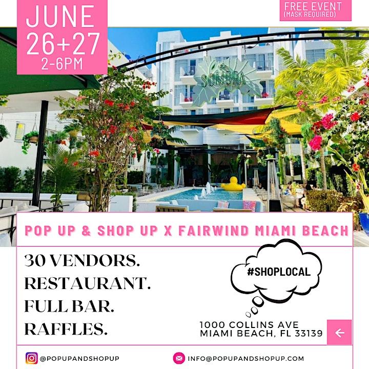 Pop up & Shop up X Fairwind Miami Beach image