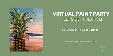 Virtual Paint Party:  Pina Beach tickets