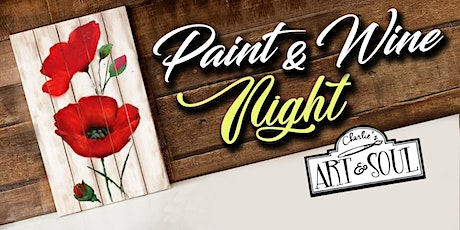Paint Event @ Stone House Urban Winery Poppies on Wood tickets