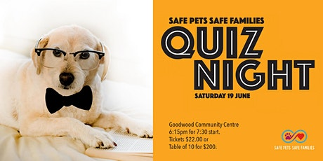 Safe Pets Safe Families Quiz night tickets