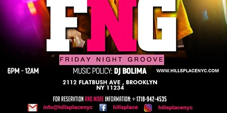 FRIDAY NIGHT GROOVE tickets