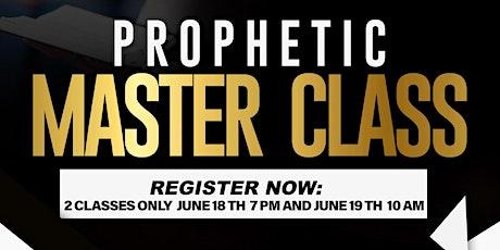 Prophetic Master Class tickets