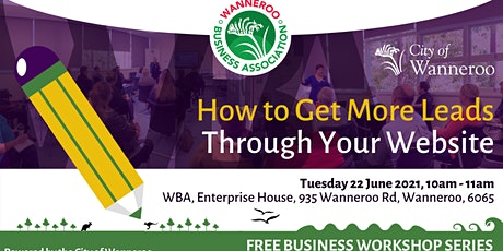 How to get More Leads Through your Website workshop tickets