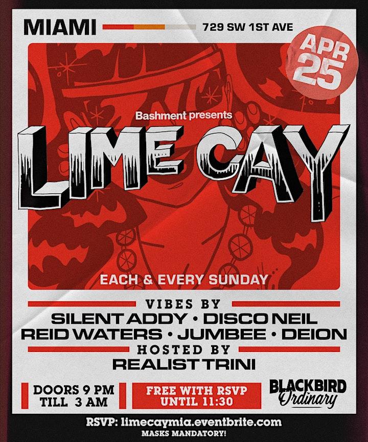 LIME CAY - Each & Every Sunday @ Blackbird Ordinary (FREE w/ RSVP) image