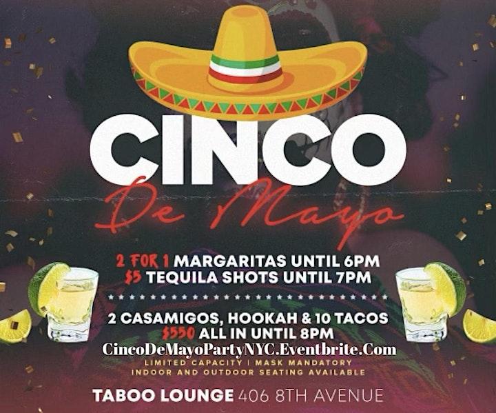 Cinco De Mayo 2021 NYC Celebration At Taboo Lounge NYC image