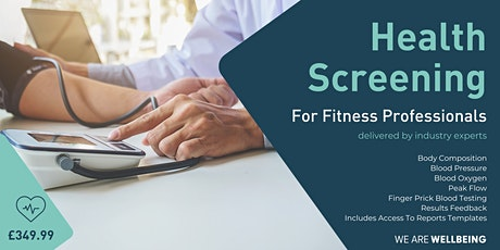 Health Screening - For Fitness Professionals tickets