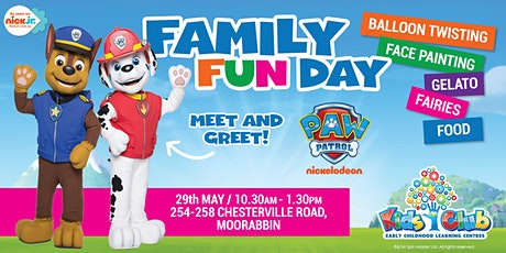 Nickelodeon's PAW Patrol Show @ Kids Club Moorabbin Family Fun Day! tickets