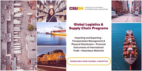 Info Session: Global Logistics Program | CSUDH Webinar (7/31/21) tickets