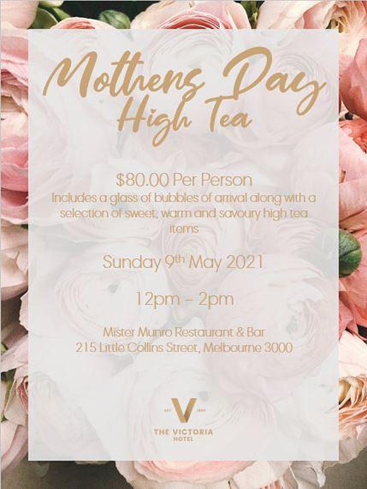 Mothers Day High Tea image