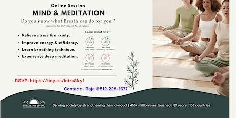 Secrets of Breath - Introduction to SKY Breath Meditation workshop tickets