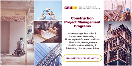 Info Session: Construction Project Management Programs | Webinar (6/21/21) tickets