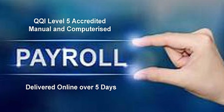 Manual & Computerised Payroll Award QQI Level 5 tickets