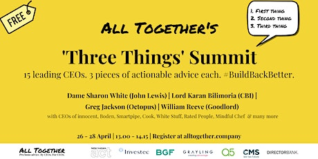 All Together's 'Three Things' Summit tickets