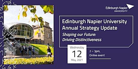 Edinburgh Napier University Annual Strategy Update tickets