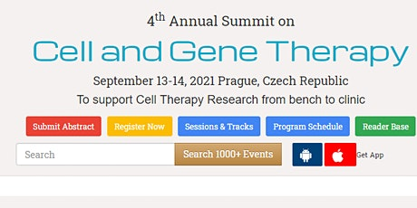 4th Annual Summit on  Cell and Gene Therapy tickets