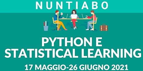 Presentazione corso 'Python e Statistical learning' tickets