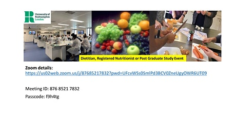 Dietitian, Registered Nutritionist or Post Graduate Study tickets