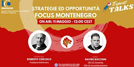 Export Talks - Focus Montenegro biglietti
