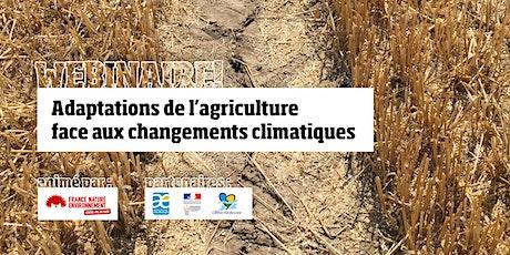 Webinaire :  Adaptations de l'agriculture face aux changements climatiques billets