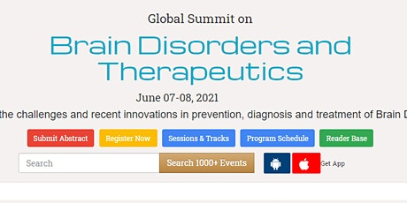 Global Summit on  Brain Disorders and Therapeutics tickets