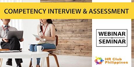 Live Webinar: Competency-Based Interview & Assessment bilhetes
