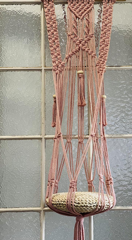 Intermediates class- 15th May- large macrame plant/decor hanger. image