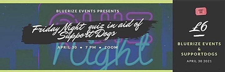 A Friday night quiz in aid of Support Dogs image