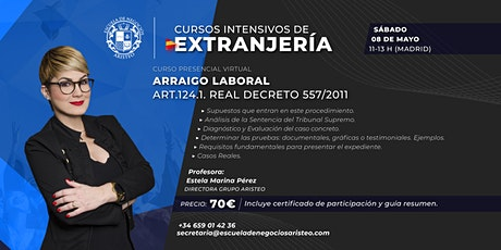 Curso Presencial Virtual:  Arraigo Laboral en España entradas