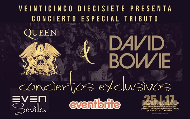 Imagen de CONCIERTOS EXCLUSIVOS: TRIBUTOS A QUEEN Y DAVID BOWIE. SALA EVEN. SEVILLA.