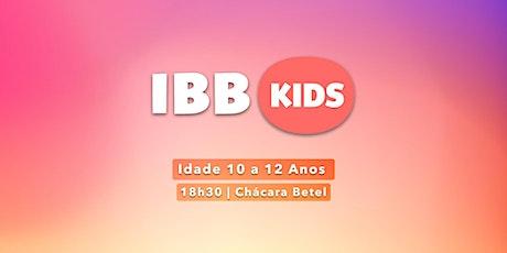 CULTO IBBKIDS - Sábado 18h30min  (10 - 12 anos) ingressos