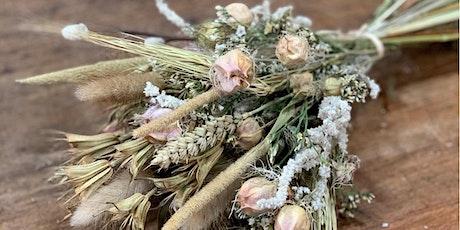 Atelier bouquet de fleurs séchées billets