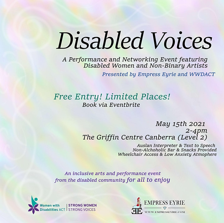 Disabled Voices - A performance and Networking arts event in Canberra image