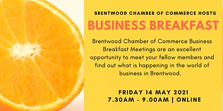 May 2021 Virtual Business Breakfast tickets