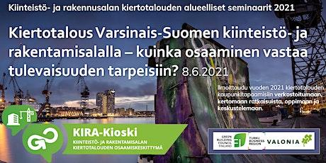 Kiertotalous Varsinais-Suomen kiinteistö- ja rakentamisalalla tickets