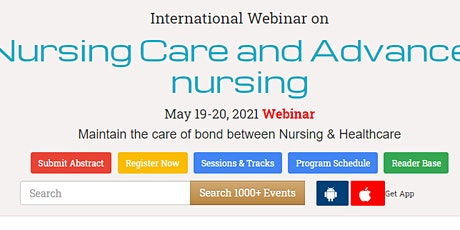 International Webinar on  Nursing Care and Advanced nursing tickets