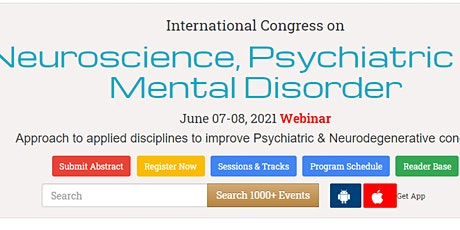 International Congress on  Neuroscience, Psychiatric and Mental Disorder tickets