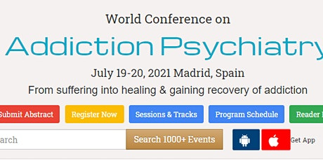 World Conference on  Addiction Psychiatry entradas