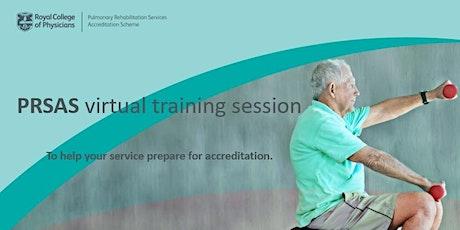 PRSAS accreditation training session- Service improvement stage tickets