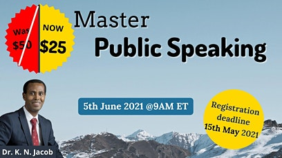 Master Public Speaking tickets