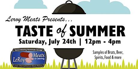 Leroy Meat's Taste of Summer tickets
